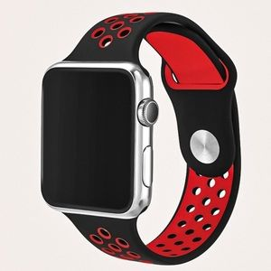 NEW Silicone Eyelet 44mm Apple Watchband